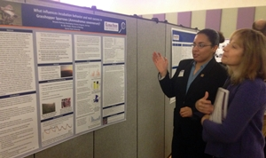 Breyana presenting her research results